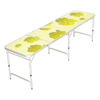 Yellow Flowers Beer Pong Table