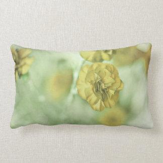 Yellow Flowers Lumbar Cushion