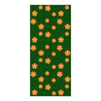 Yellow flowers on green background custom rack cards
