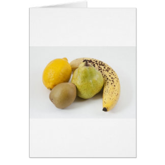 Yellow fruits on a white background card