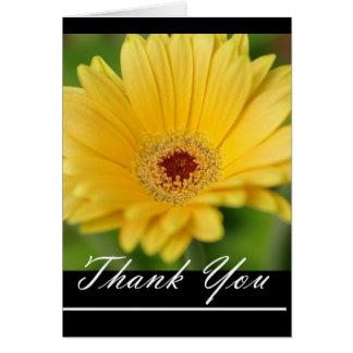 Yellow Gerbera Daisy Thank You note Greeting Card
