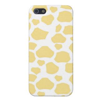 Yellow giraffe skin girly animal print pattern iPhone 5 covers