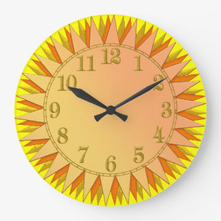 Yellow Gold Orange Sunrise Wall Clock