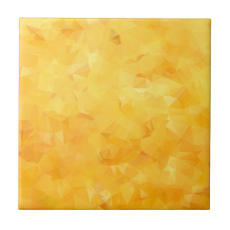 Yellow Golden Beryl Facet Small Square Tile
