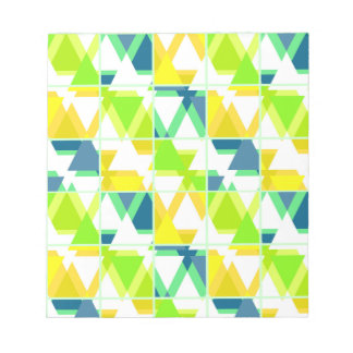 Yellow green abstract notepads