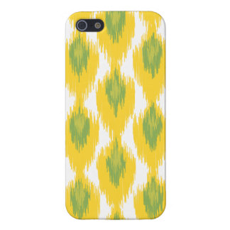 Yellow Green Abstract Tribal Ikat Diamond Pattern iPhone 5/5S Covers