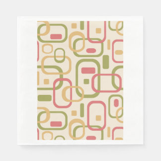 Yellow, green and pink rectangles paper napkin