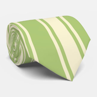 Yellow-green Color Stripe Funky Pattern Tie