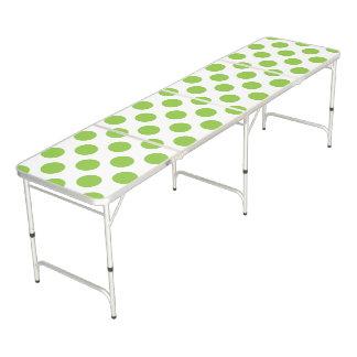 Yellow Green Polka Dots Pong Table