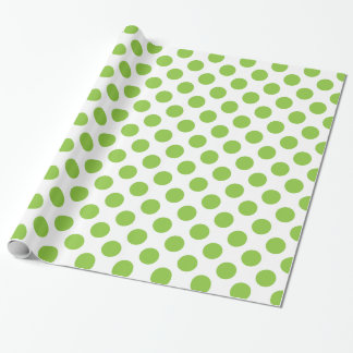 Yellow Green Polka Dots Wrapping Paper
