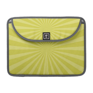 Yellow-Green Radiant Stripes Design Sleeve For MacBooks