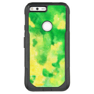 Yellow Green Watercolor Google Pixel XL Case