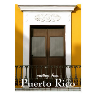 From puerto rico postcards zazzle nz yellow greetings from puerto rico postcard m4hsunfo