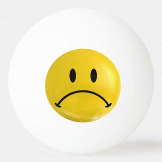 Yellow Happy Sad Smiley Bi Polar Ping Pong Ball