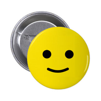 Yellow Happy Smiley Face 6 Cm Round Badge