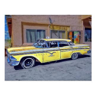 Yellow Havana Taxi Cab Postcard
