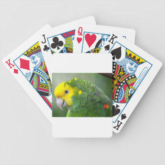 Yellow Headed Amazon Bicycle Playing Cards