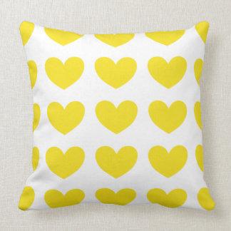 Yellow Heart Throw Cushions