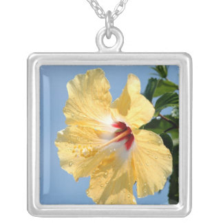 Yellow Hibiscus Flower Necklace