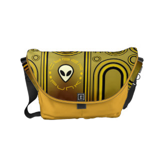 Yellow Industrial Cyber Punk Futuristic Courier Bags