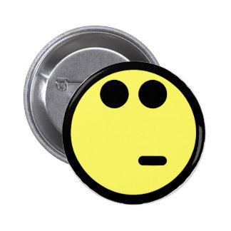 Yellow Inquisitive Smiley Face 6 Cm Round Badge