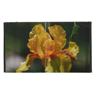 Yellow Iris iPad Folio Case