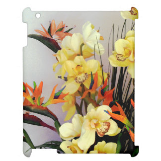 Yellow Iris Flower Arrangement iPad Cover
