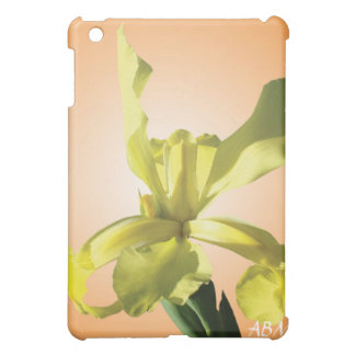 yellow iris flower cover for the iPad mini