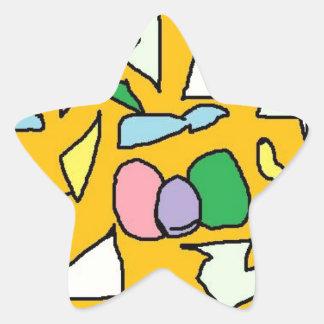 Yellow Jewel Star Sticker