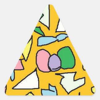 Yellow Jewel Triangle Sticker