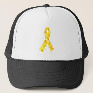 Yellow Jigsaw Puzzle Pattern Ribbon Trucker Hat