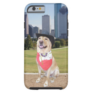Yellow Lab Houston Skyline Tough iPhone 6 Case