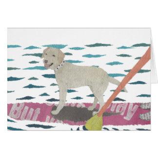 Yellow Lab, Labrador Retriever, Beach Dog Card