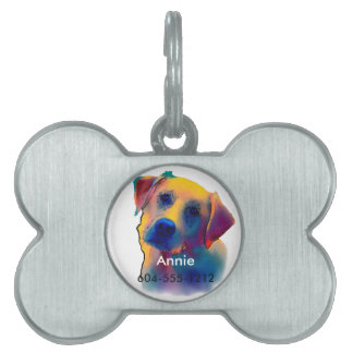 Yellow Labrador Dog Pet ID Tag