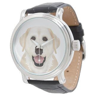 yellow labrador retriever cartoon watch