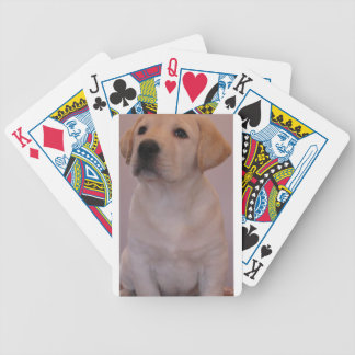 Yellow Labrador Retriever Puppy Bicycle Playing Cards