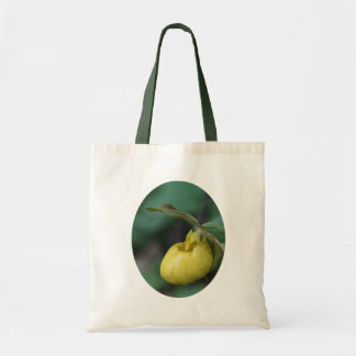 Yellow Lady Slipper Flower Budget Tote Bag