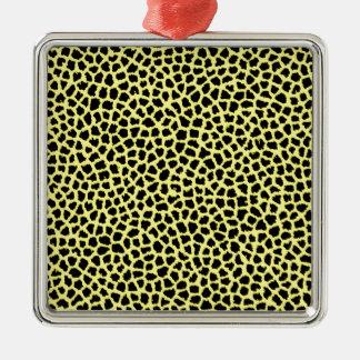 Yellow Leopard print Christmas Ornament