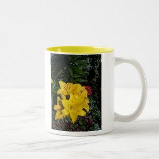 Yellow Lillies Two-Tone Coffee Mug