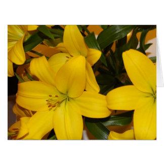 Yellow Lilly Birthday card. Card