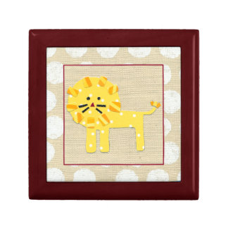 Yellow Lion with White Polka Dots Gift Box