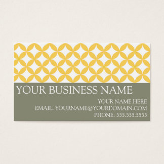 Yellow Modern Lattice Business Cards