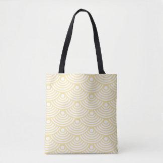 Yellow Modern Waves Tote Bag