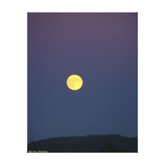 Yellow Moon ~ Gallery Wrapped Canvas