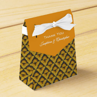 Yellow Mosaic Pattern Favour Boxes