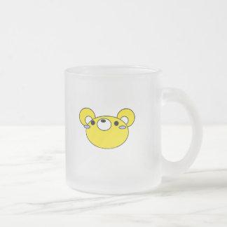 yellow mouse cartoon face coffee mug