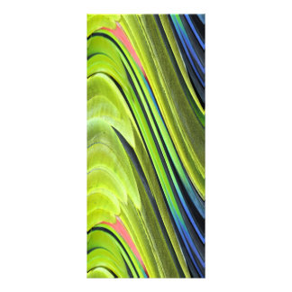 Yellow-Naped Amazon Parrot Feathers by STaylor Rack Card