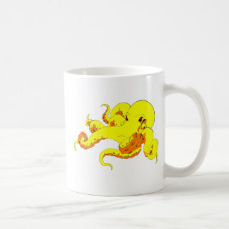 Yellow Octopus Mug