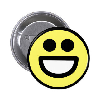 Yellow Open Mouth Smiley Face 6 Cm Round Badge