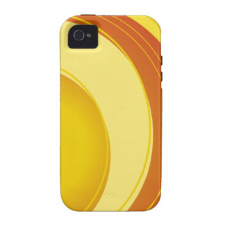 Yellow, Orange and White iPhone 4 Case